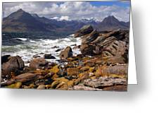 The Cuillin Mountains From Elgol Greeting Card