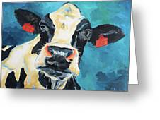The Curious Cow Greeting Card
