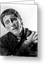 The Curse Of Frankenstein Christopher Lee 1957 Greeting Card