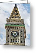 The Customs House Clock Tower Boston Greeting Card
