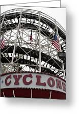 The Cyclone At Coney Island Greeting Card
