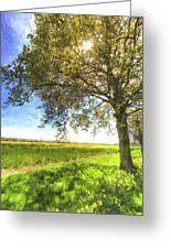The Daffodil Summer Farm Art Greeting Card