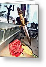 The Dagger And The Rose Greeting Card