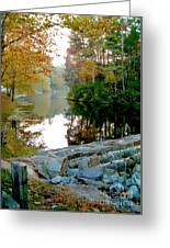 The Dam At Peaks Of Otter Greeting Card