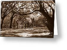The Dance - Sepia Greeting Card