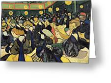 The Dance Hall At Arles Greeting Card by Vincent Van Gogh