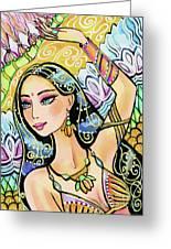 The Dance Of Daksha Greeting Card