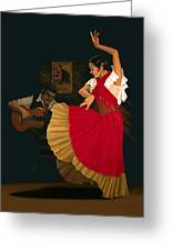 The Dance Of Passion Greeting Card
