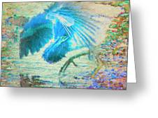 The Dance Of The Blue Heron Greeting Card