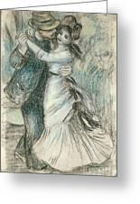 The Dance Greeting Card by Pierre Auguste Renoir