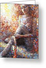 The Dancer In Ardent Greeting Card