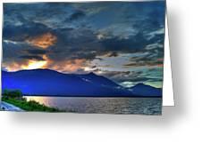 The Darkwoods And Kootenay Lake Greeting Card