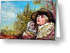 The Dauphin And Captain Nemo Discovering Bogomils Island Greeting Card
