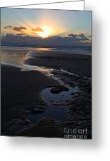 The Days Last Rays At Dunraven Bay Wales Greeting Card