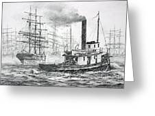 The Days Of Steam And Sail Greeting Card