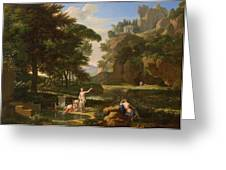 The Death Of Narcissus Greeting Card