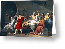 The Death Of Socrates, 1787 Artwork Greeting Card by Sheila Terry