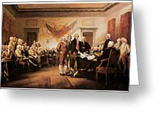 The Declaration Of Independence Greeting Card by John Trumbull