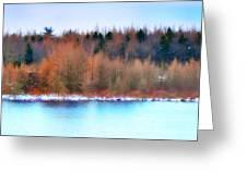 The Deep Forbidden Lake Greeting Card