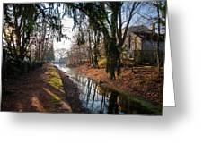 The Delaware Canal In New Hope Pa Greeting Card