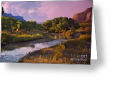 The Delores River At Gate Way Colorado Greeting Card
