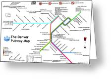 The Denver Pubway Map Greeting Card