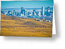 The Denver Skyline II Greeting Card