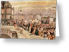 The Departure Of The Volunteers 1792 Greeting Card