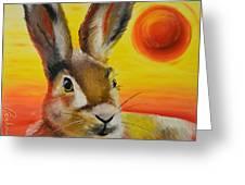 The Desert Hare Greeting Card