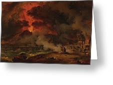 The Destruction Of Pompeii Greeting Card