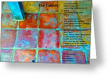 The Details Greeting Card