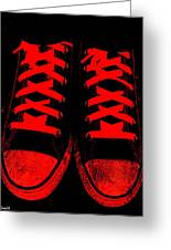 The Devil Wears Converse Greeting Card by Ed Smith