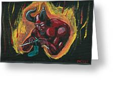 The Devil's Day Of Down Time Greeting Card