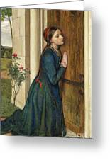 The Devout Childhood Of Saint Elizabeth Of Hungary, 1852 Greeting Card
