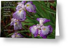 The Dew Of Little Things Greeting Card