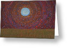 The Difficulty Of Crossing A Field Original Painting Greeting Card