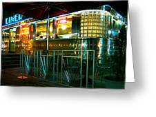 The Diner By Night Greeting Card