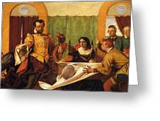 The Dinner Scene From Taming Of The Shrew Greeting Card