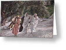 The Disciples On The Road To Emmaus Greeting Card