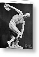 The Discobolus, 450.b.c Greeting Card
