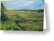 The Distant View Of The Marsh Greeting Card