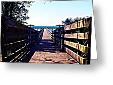 The Dock At Lake George  Greeting Card