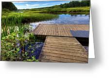 The Dock At Mountainman Greeting Card