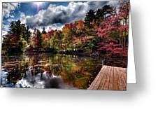 The Dock At The Boathouse Greeting Card