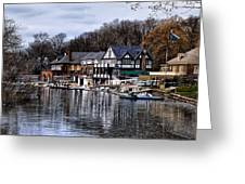 The Docks At Boathouse Row - Philadelphia Greeting Card