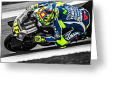 The Doctor At Assen Greeting Card