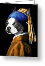 The Dog With A Pearl Earring Greeting Card