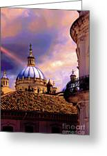 The Domes Of Immaculate Conception, Cuenca, Ecuador Greeting Card