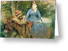 The Donkey Ride Greeting Card