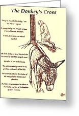 The Donkey's Cross Greeting Card by Mary Singer
